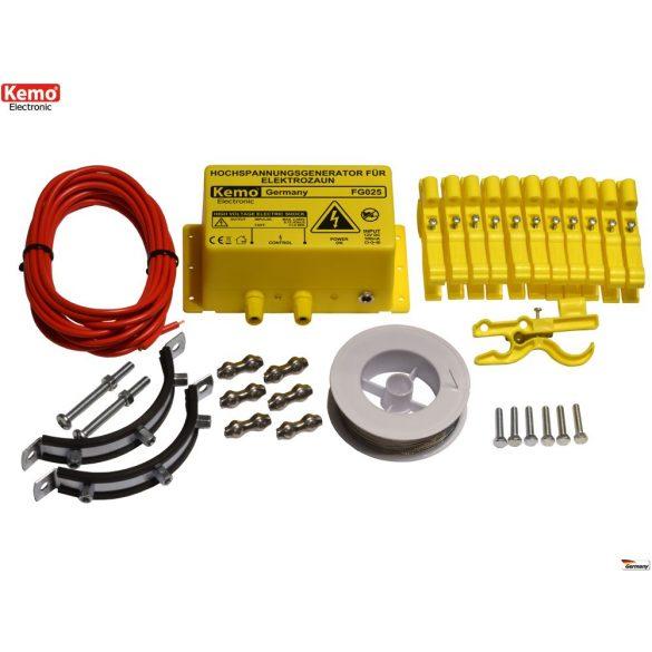 Kemo FG025SET nagyfeszültségű elektromos kerítésrendszer nyestek ellen