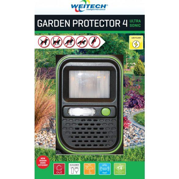 Weitech Garden Protector 4 ultrahangos nyest- macska- kutya- vadriasztó készülék 200m2